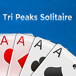 AARP Connect's online Tri-Peaks Solitaire game