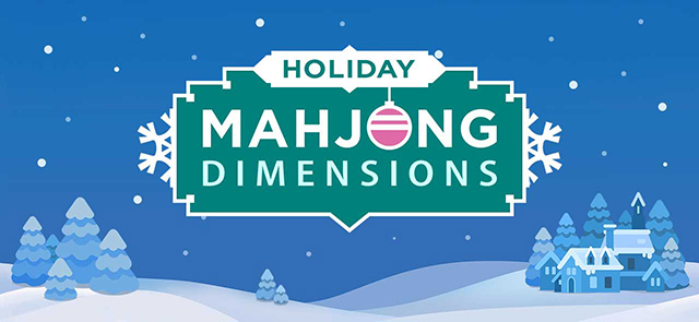 AARP's free Holiday Mahjongg Dimensions game